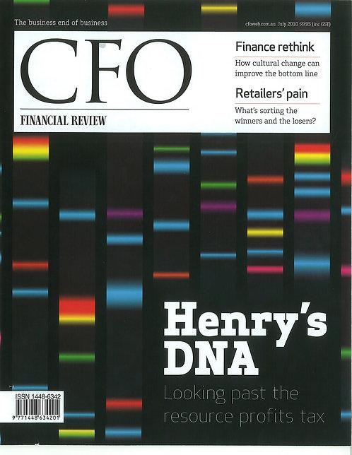 CFO Magazine - Finance Rethink: How culture change can improve the bottom line