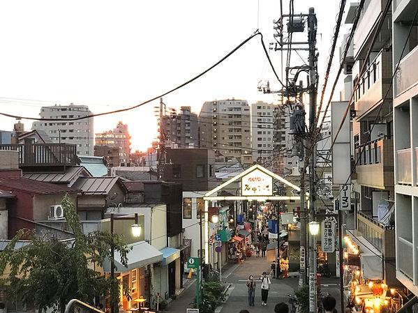 階段上夕焼け1.JPG