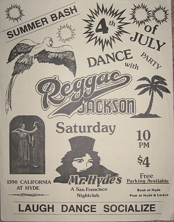 Reggae Jackson July 4 1980 poster mr Hyd