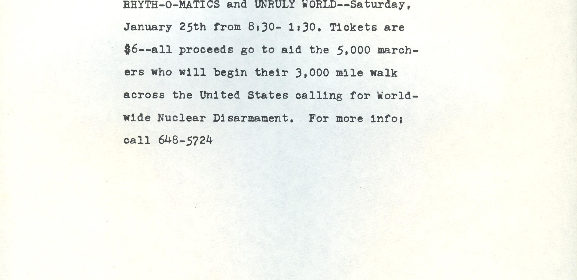 ROM Unruly World Press Release 1986 001.