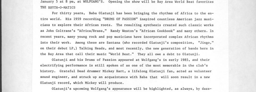 Wolfgangs Press Release ROM Olatunji ori