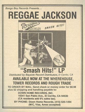 Reggae Jackson LP ad African Reggae beat
