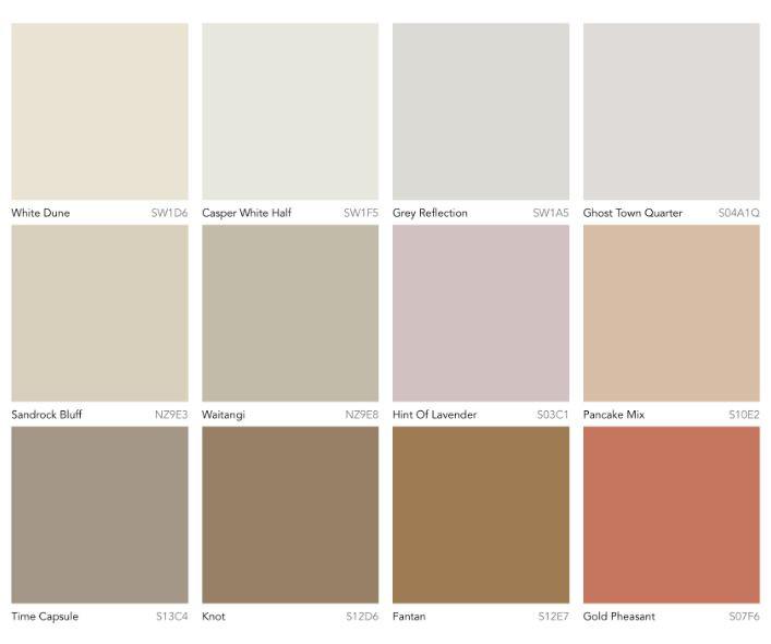 paleta de colores tendencia 2020