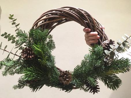 Haz tu corona para esta Navidad