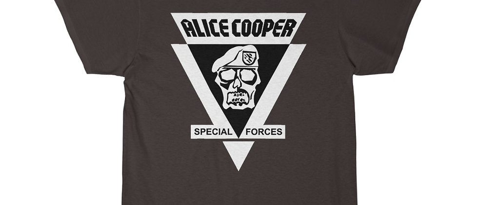 ALICE COOPER, SPECIAL FORCES, T SHIRT, HEAVY METAL,