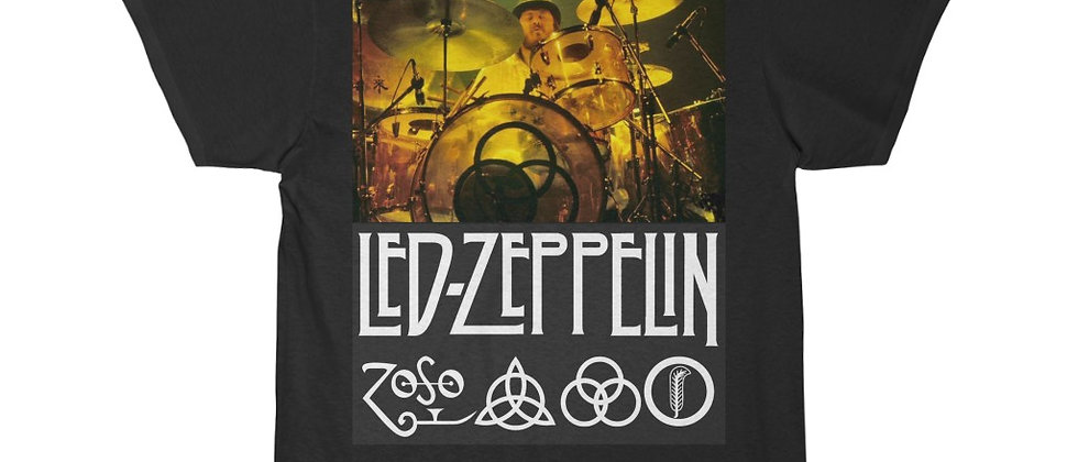 Led Zeppelin john Bonham Drums 1 Short Sleeve Tee
