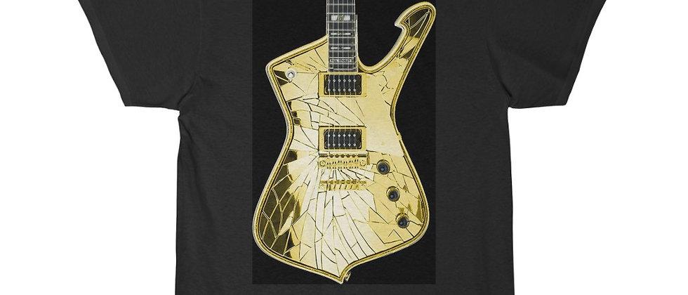 KISS Paul Stanley Ibanez PS-10 Iceman GOLD Mirrorball Guitar Short Sleeve Tee