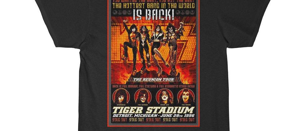 KISS 1996 Tiger Stadium Reunion Show Poster Short Sleeve Tee