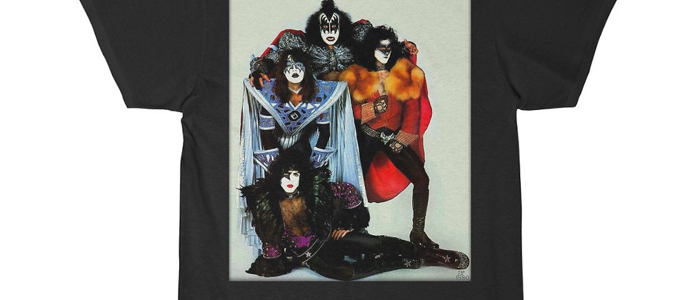 KISS, PAUL STANLEY, MEGO, T SHIRT, GENE SIMMONS, ACE FREHLEY, PETER CRISS, END OF THE ROAD