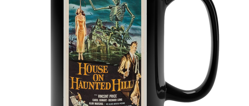 House On Haunted Hill Poster  Black Mug 15oz