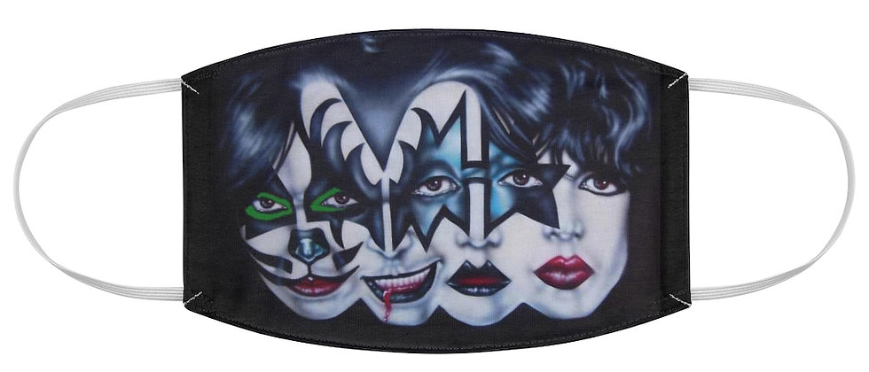 KISS Morphed Faces Fabric Face Mask