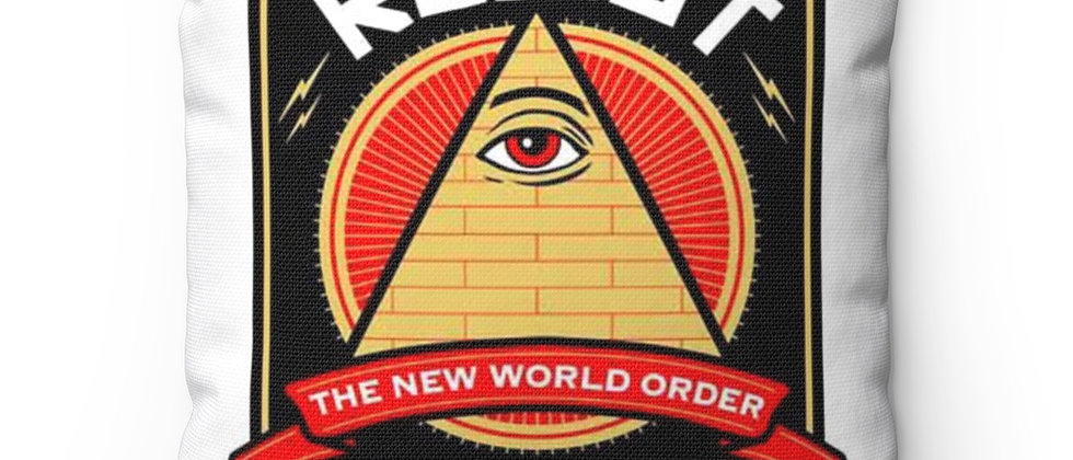 Resist the New World Order  Spun Polyester Square Pillow gift