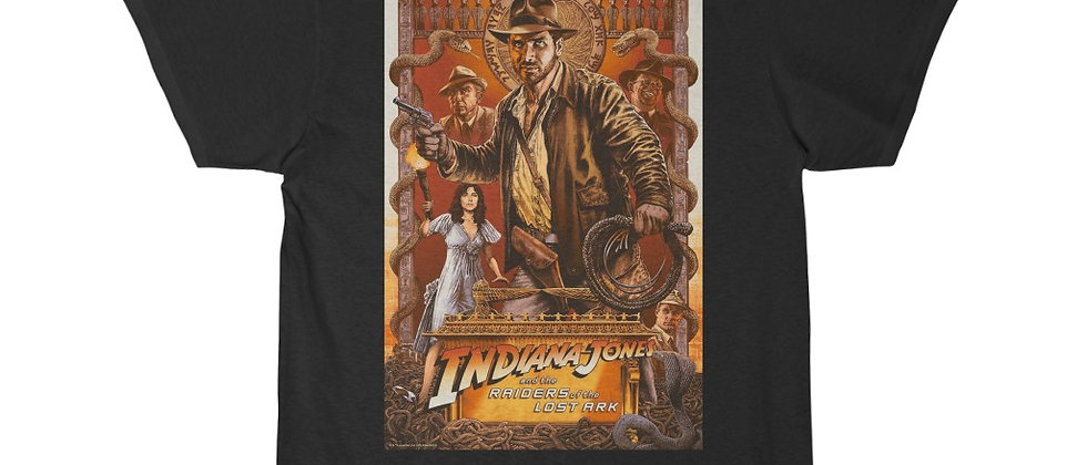 INDIANA JONES, T SHIRT, RAIDERS OF THE LOST ARK, HARRISON FORD