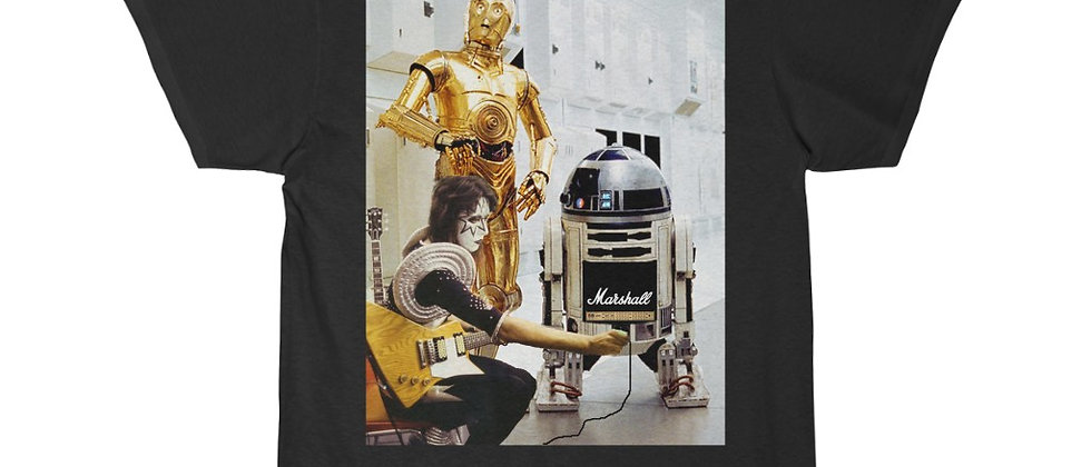 Ace Frehley and Star Wars Droids R2D2 Marshall Amp Men's Short Sleeve Tee