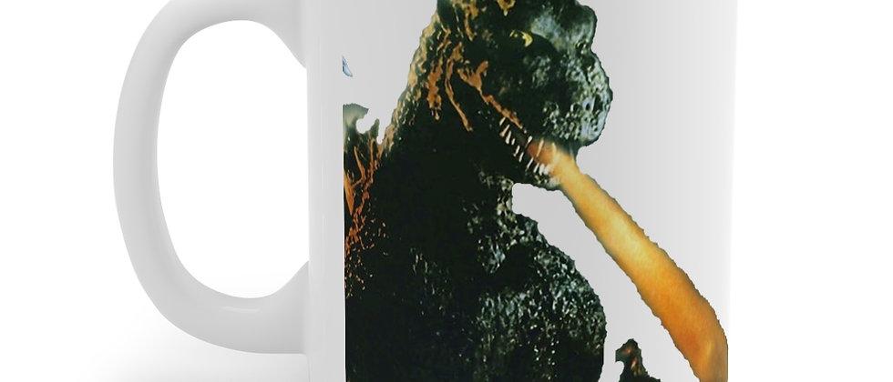 Godzilla Death Ray Wht Mug 11oz