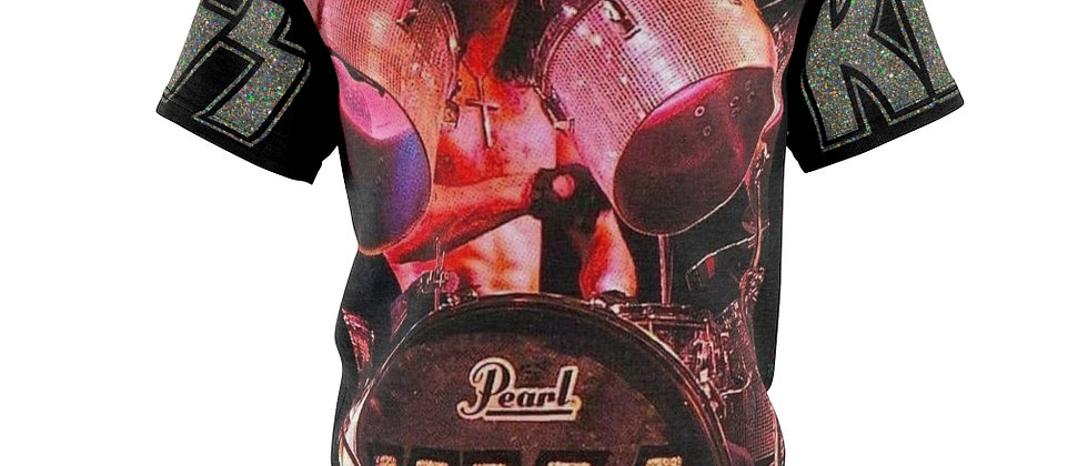KISS Peter Criss on the Drums  Unisex AOP Cut & Sew Tee