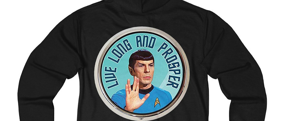 Star Trek Live Long and Prosper  Mr. Spock Unisex French Terry Zip Hoodie