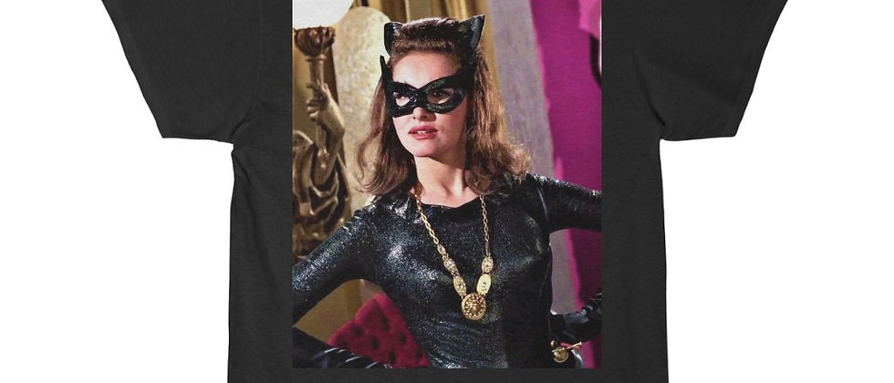 Sexy Julie Newmar Catwoman  Short Sleeve Tee