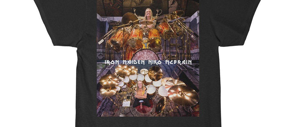 Iron Maiden Niko McBrain' DRUMS Men's Short Sleeve T Shirt