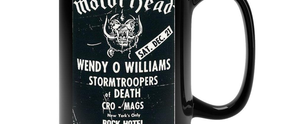 Motorhead show poster  Black Mug 15oz