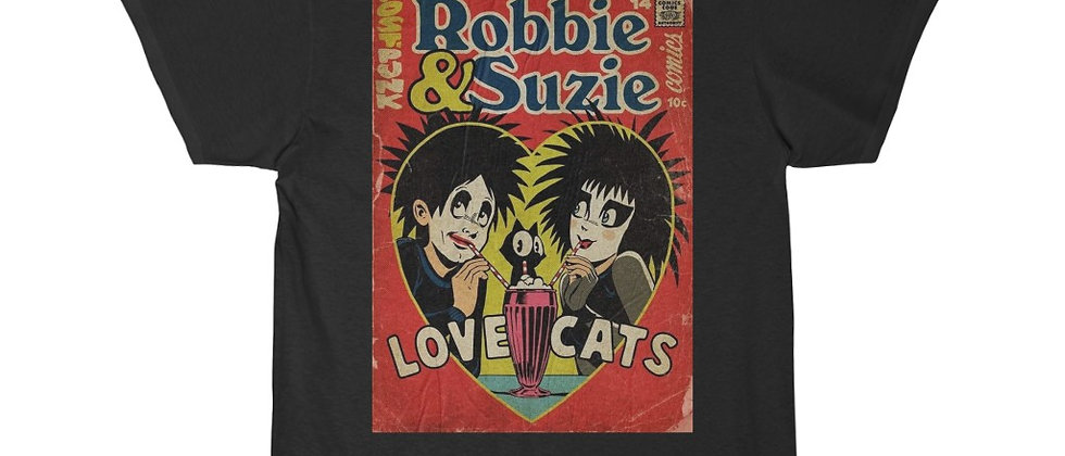 The Cure Love Cats Robert Smith and Suzie  Men's Short Sleeve Tee