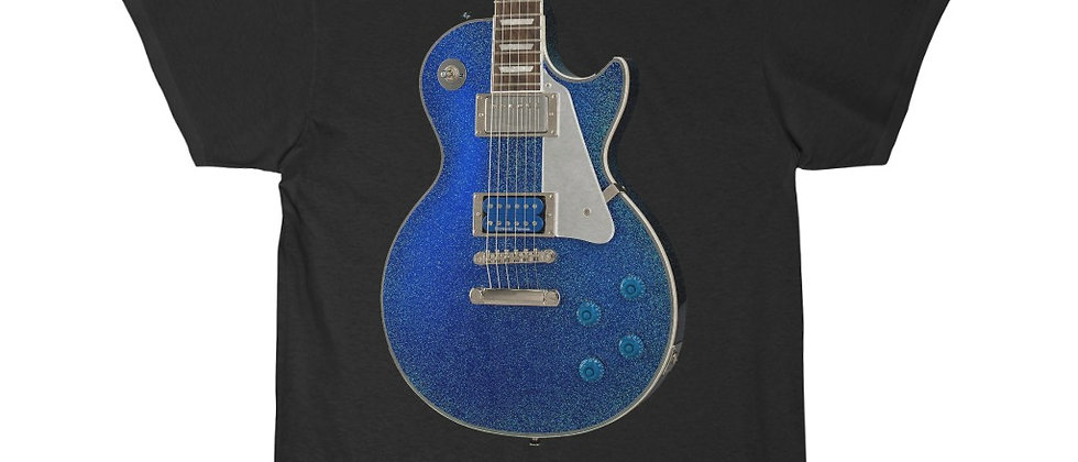 KISS Tommy Thayer's Blue Glitter Gibson Les Paul Guitar t-shirt