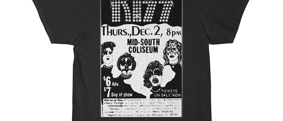 KISS early concert advertisement Men's Short Sleeve Tee