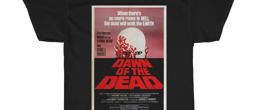 Dawn Of The Dead Poster Unisex Heavy Cotton Tee
