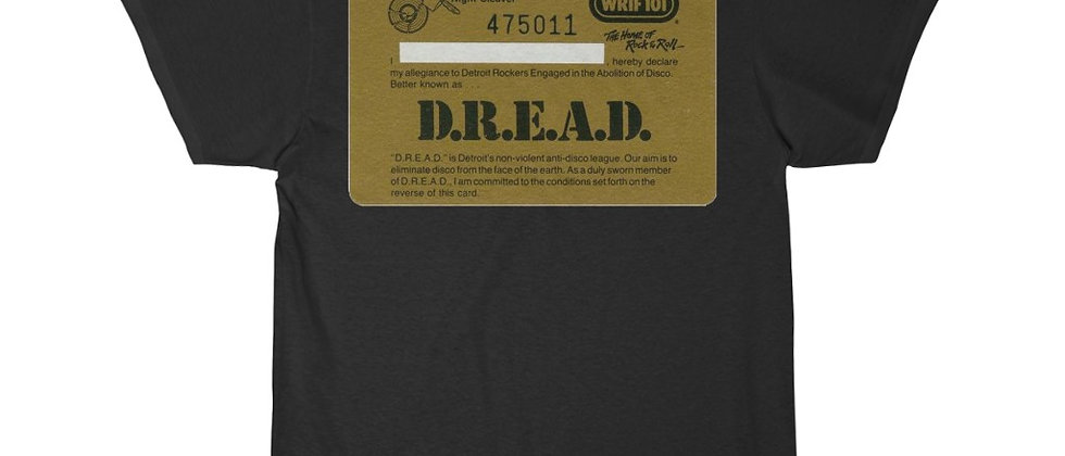 DREAD Card from WRIF Late 70's 2 sided special  Men's Short Sleeve Tee