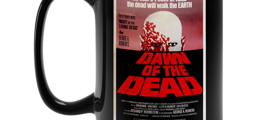 Dawn Of The Dead Poster  Black Mug 15oz