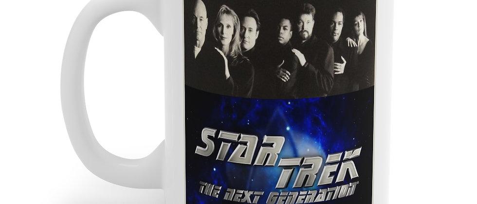 Star Trek TNG b&w Cast Mug 11oz