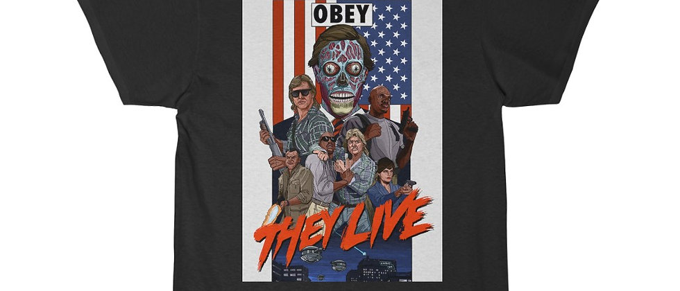 THEY LIVE Classic Cult Movie Short Sleeve Tee
