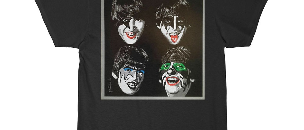 KISS, PAUL STANLEY, BEATLES, T SHIRT, GENE SIMMONS, ACE FREHLEY, PETER CRISS, END OF THE ROAD