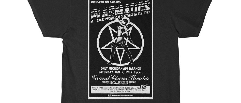 PLASMATICS GCT Flyer 1982 white  Men's Short Sleeve Tee