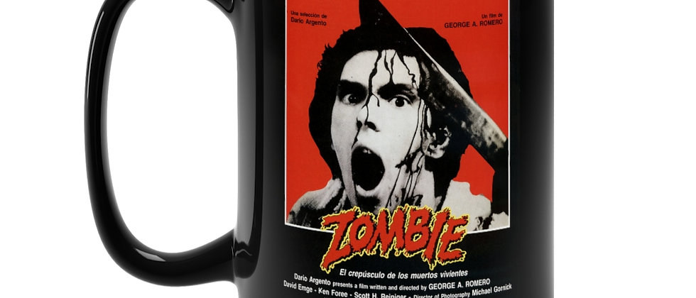 ZOMBIE Dawn Of The Dead Poster  Black Mug 15oz