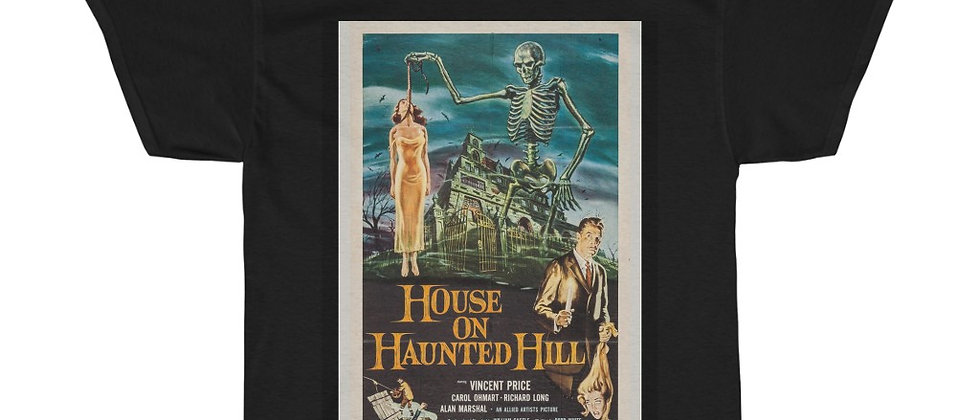 House On Haunted Hill Movie Poster Unisex Heavy Cotton Tee