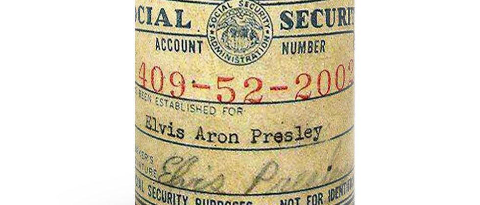 Elvis Presley SIGNED Social Security Card Black mug 11oz