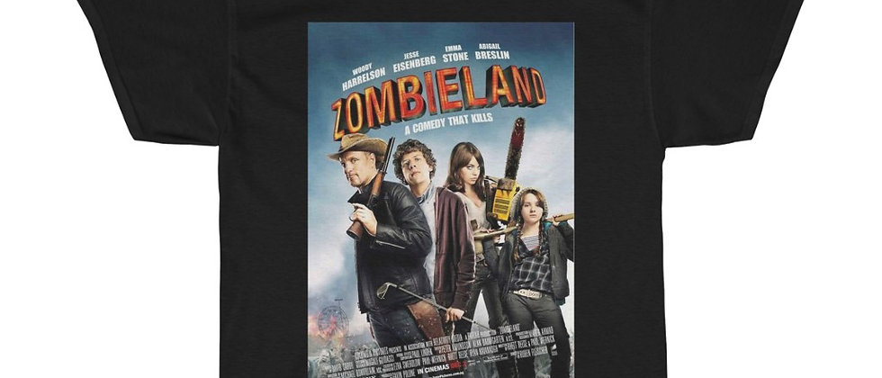 ZOMBIELAND Movie Poster Unisex Heavy Cotton Tee