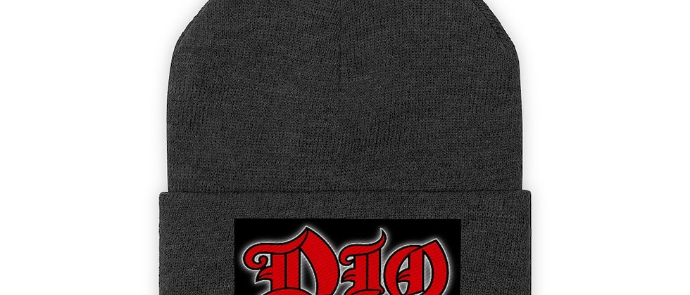 DIO Ronnie James Dio Logo  Knit Beanie