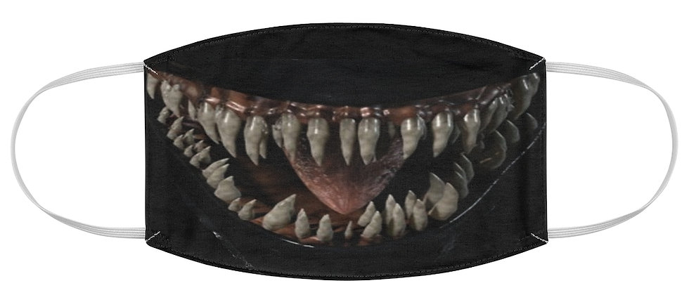 Venom evil sharp tooth grin Fabric Face Mask