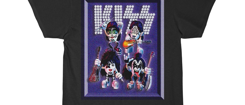 KISS, PAUL STANLEY, M&MS, T SHIRT, GENE SIMMONS, ACE FREHLEY, PETER CRISS, END OF THE ROAD