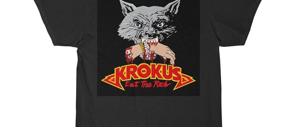KROKUS Eat The Rich Men's Short Sleeve T Shirt