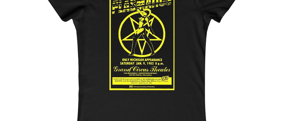 Plasmatics Flyer from Grand Circus yellow Wendy O Williams Women's Favorite Tee