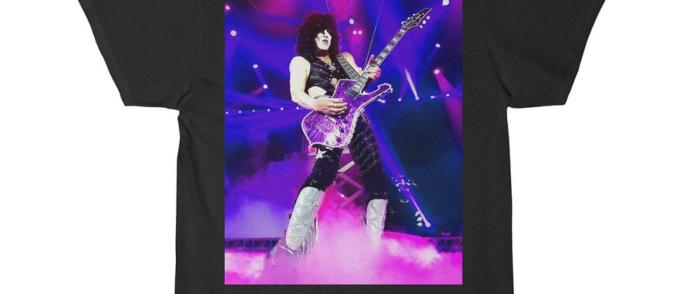 KISS Paul Stanley Live EOTR Purple Guitar Short Sleeve Tee T Shirt