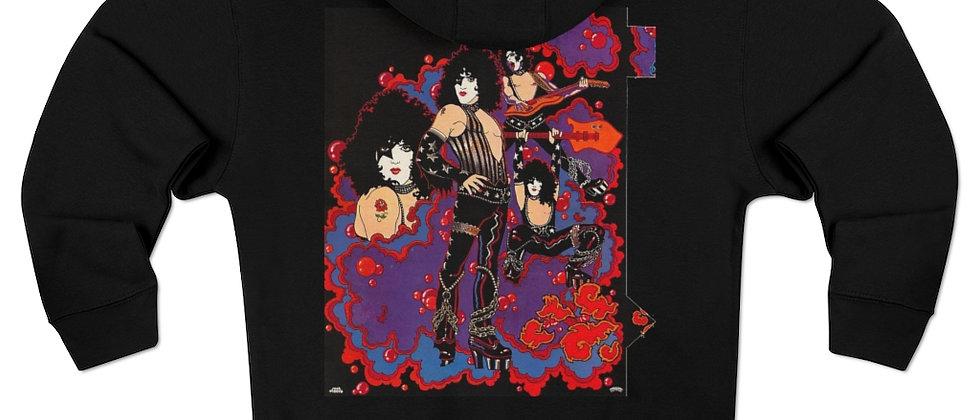 KISS solo Paul Stanley w/ purple logo hoodie Unisex Premium Full Zip Hoodie