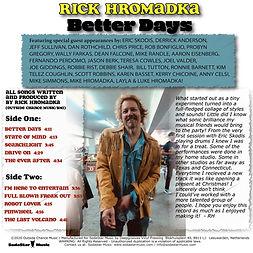 Rick Hromadka - Better Days Back Cover.j