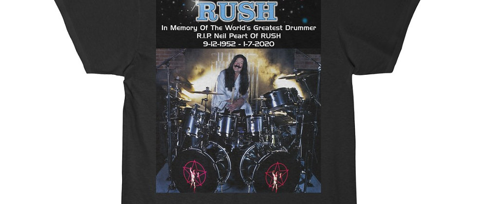 Neil Peart of RUSH Drums R.I.P. 2112 Short Sleeve Tee
