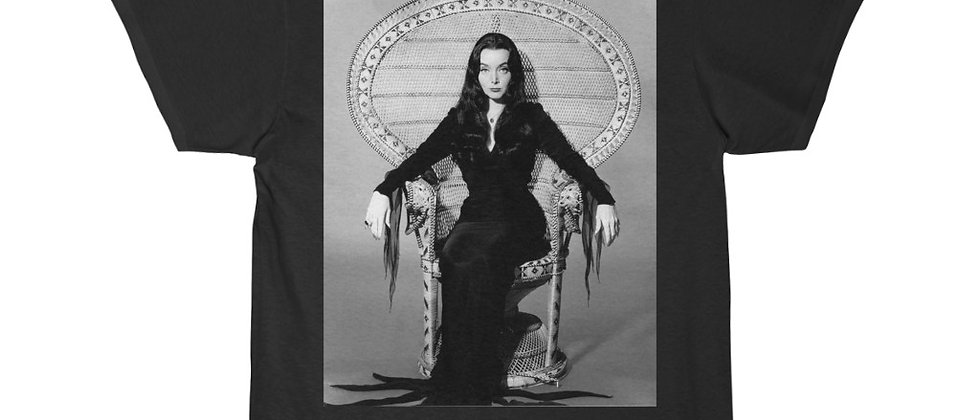 Morticia Addams The Addams Family In Her Chair Short Sleeve Tee