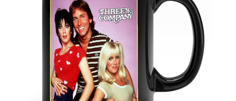 Three's Company Black mug 11oz