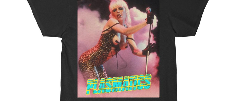 PLASMATICS Wendy in Leopard 2 sided special  Men's Short Sleeve Tee